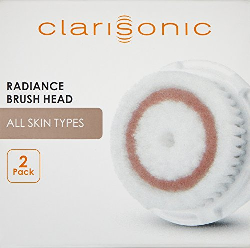 Clarisonic Radiance Facial Cleansing Brush Head Replacement, Two Pack