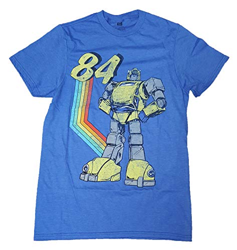 Transformers Bumblebee Vintage Blue Graphic T-Shirt - -