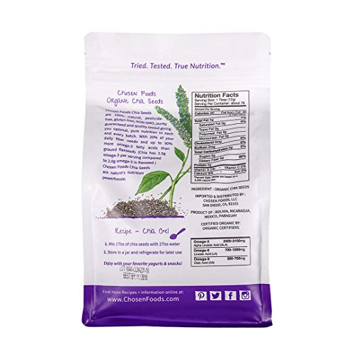 Chosen Foods Organic Chia Seeds, 2 Pound by Chosen Foods (Image #1)