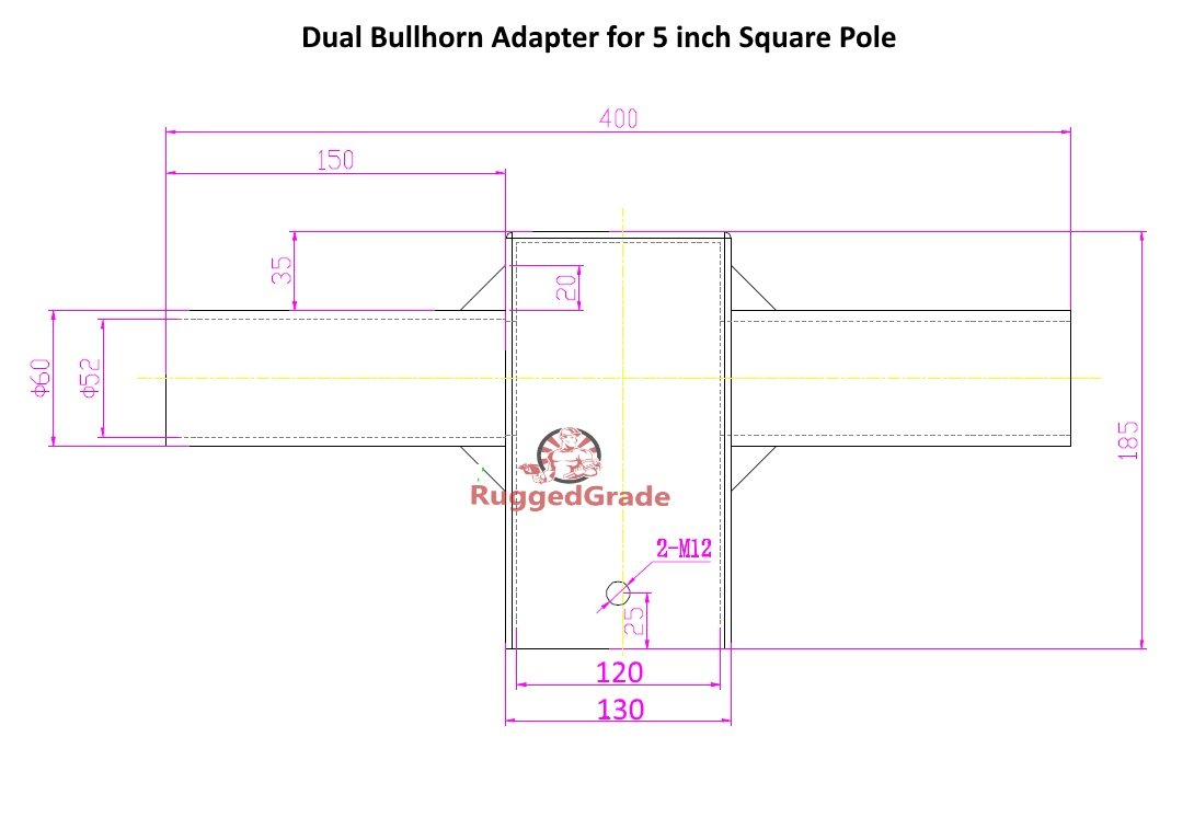 tenon bullhorn adapter 2 head for 5 inch square pole light rh amazon com 3-Way Switch Wiring Diagram Residential Electrical Wiring Diagrams