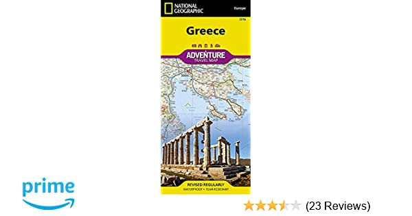 Greece (National Geographic Adventure Map): National Geographic Maps
