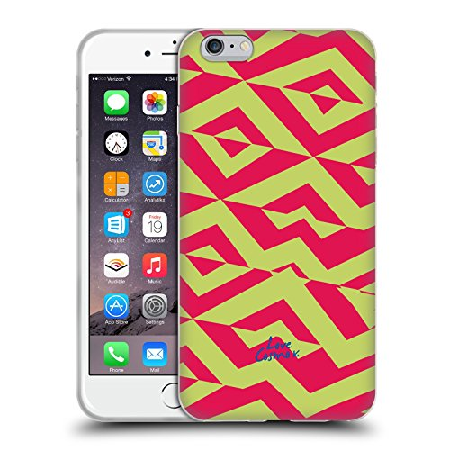 Official Cosmopolitan Yellow Green And Pink Aztec Brights Soft Gel Case for Apple iPhone 6 Plus / 6s Plus
