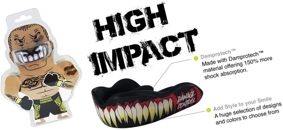 Damage Control Adult Mouthguard Rugby Gum Shield Boxing Martial Arts Mouth Guard Black Arts