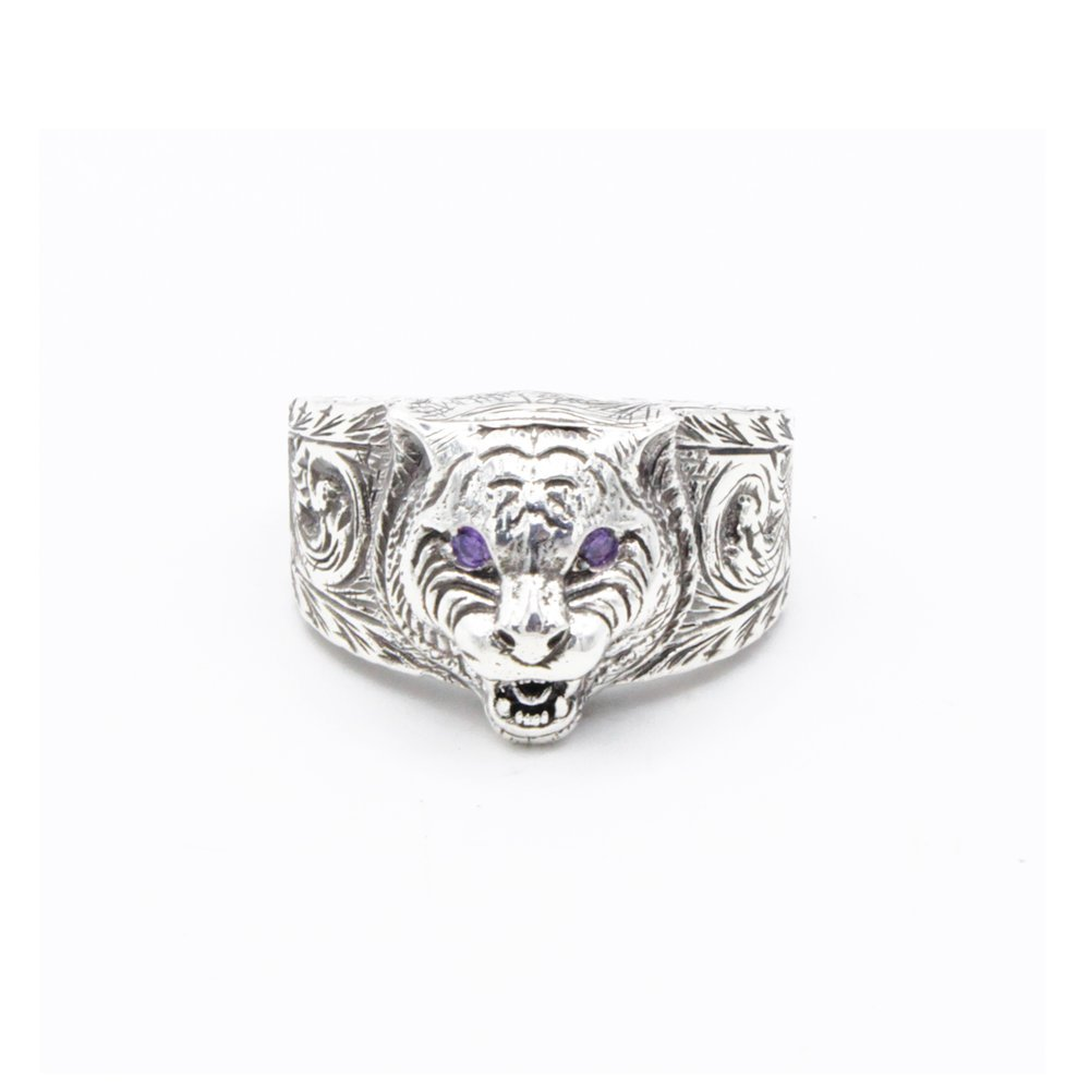 5f85fdc950c GUCCI SILVER RING Garden collection YBC455327002021 Ring size  T 1 2   Amazon.co.uk  Jewellery