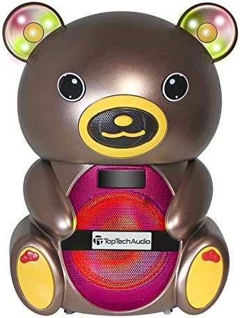 Teddy Bear Extra Bass 1000 Watts Portable Bluetooth Multimedia Speaker with LED Lights with Carry Belt