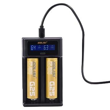 GOLISI i2 Smart Charger Cargador de batería con Gran ...