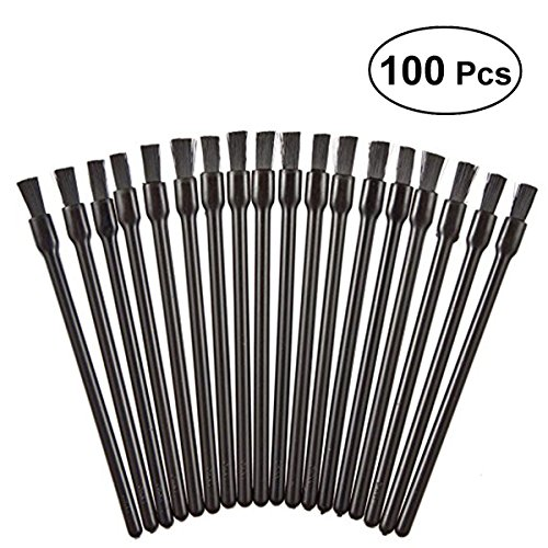 Frcolor Disposable Lip Gloss Brushes Lipstick Wands Applicator Flat Brush Makeup Cosmetic Tools (100 Pcs)