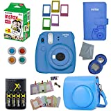 Fujifilm Instax Mini 9 Instant Camera – 10 Pack Camera Bundle Blue (Small Image)