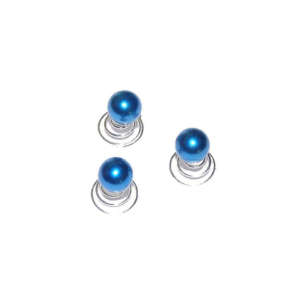 Au plaisir des yeux Bijou cheveux mariage 3 spirales perle bleu marine EP