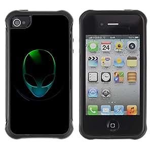 "Hypernova Defender Series TPU protection Cas Case Coque pour Apple iPhone 4 / iPhone 4S [Extranjero verde""]"