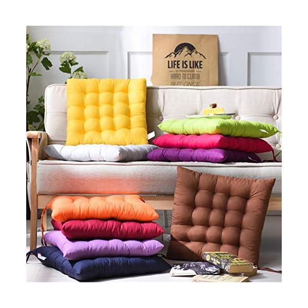 AGDLLYD Cuscino per Sedia, Cuscini per Giardino, per Dentro o Fuori,40x40x5 cm Cuscini da Sedia Trapuntati,Disponibile… 3 spesavip
