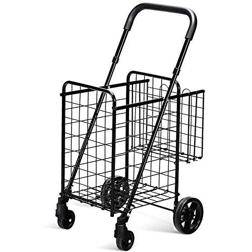 (Carry Bags Basket Grocery Folding Shopping Handle Front Transportation Purse Jacket Umbrella Supermarket Sports Equipment Basketball Cart Laundry Travel Swivel Wheels Rolling Trolley)