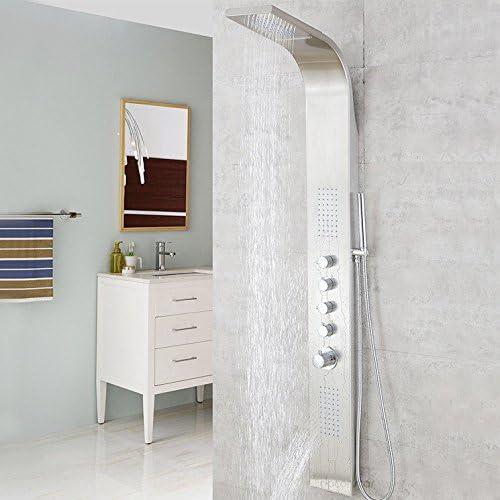 Zxy Hogar Baño ZXY Termostato mampara de ducha acero inoxidable ducha ducha aspersor traje multifunción agua ducha grifo principal Flor: Amazon.es: Hogar