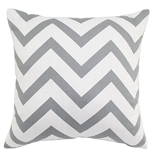 "Sykting 2pcs 18"" X 18"" Square Chevron Stripe Throw Pillow Cover Cushion Case Home Decoration Gray"