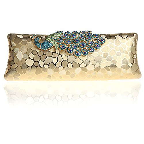 HT Evening Bag - Cartera de mano para mujer Light Silver