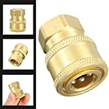 Vivona Hardware & Accessories 1/4Inch Quick Release to BSP1/4 Female Pressure Washer Hose Adaptor Coupling