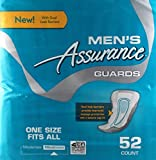 Mens Assurance Guards - 52 Count - New Improved With Dual Leak Barriers