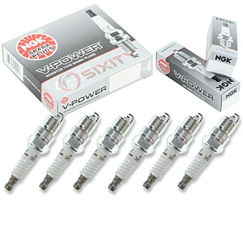 NGK V-Power 6pcs Spark Plugs Chevrolet C1500 88-95 4.3L V6 Kit Set Tune (91 V6 Auto Car)