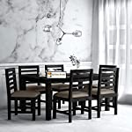 KendalWood Furniture Sheesham Wood Dining Table(57 * 35) with 6 Chairs | 6 Seater Dining Set | Wooden Dining Table with Chair – Dining Room Furniture ( Warm Chestnut Finish with Cushion)