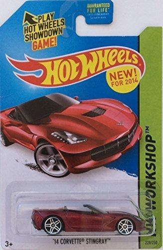 (Hot Wheels 2014 Workshop Chevrolet Chevy Corvette Stingray Convertible Red Metallic)