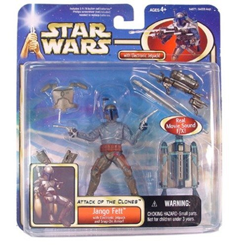Fett Jet Pack - Star Wars JANGO FETT Deluxe Set AOTC Episode 2 w/ electronic jetpack and accessories