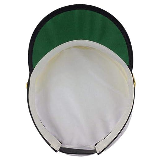 Kindlyperson - Gorra de Capitán Marina para Hombre y Mujer, Negro ...