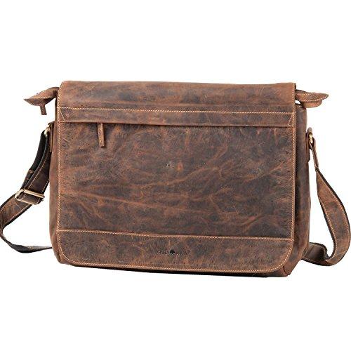 1766B Greenburry Schultertasche Handarbeit 25 Leder Vintage Umhängetasche gqw1dqP