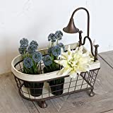 American Village Personal Creative Style Basket / Iron Storage Box / Fruit Basket / Flower Decoration