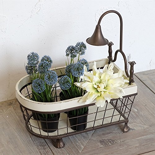 American Village Personal Creative Style Basket / Iron Storage Box / Fruit Basket / Flower Decoration by GraspFate