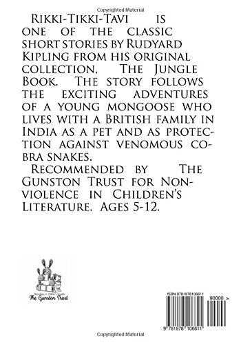 rikki tikki tavi volume 9 tales from the jungle book amazoncouk rudyard kipling 9781978106611 books