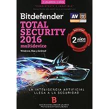 Bitdefender Total Security Multidispositivos 2016, 2 Años, 1 + 1 Usuarios