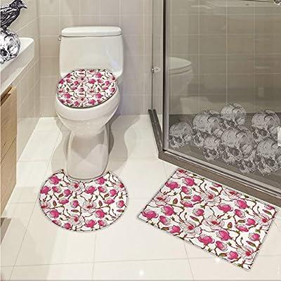 Amazoncom Flower 3 Piece Bathroom Rug Set Romantic Spring Branches