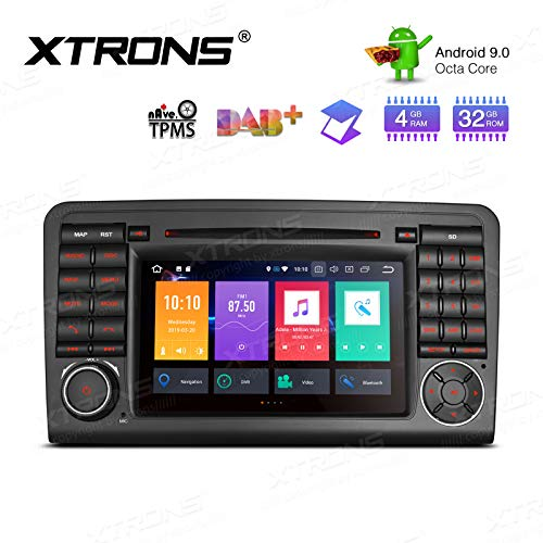 XTRONS 7 Inch Android 9.0 Octa Core 4G RAM 32G ROM HD Digital Multi-Touch Screen DVR Car Stereo DVD Player Tire Pressure Monitoring WiFi OBD2 for Mercedes Benz X164 W164 ML GL ()