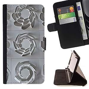 Momo Phone Case / Flip Funda de Cuero Case Cover - Patrón 3D Arte Plástico Blanco Limpio - Sony Xperia Style T3