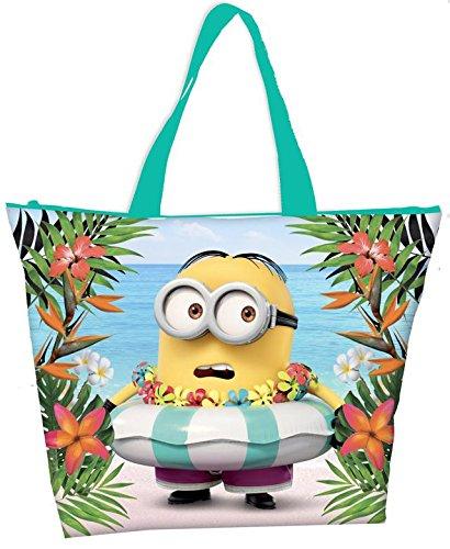 Coriex Disney Minions Paradise Strandtasche, Mehrfarbig, M