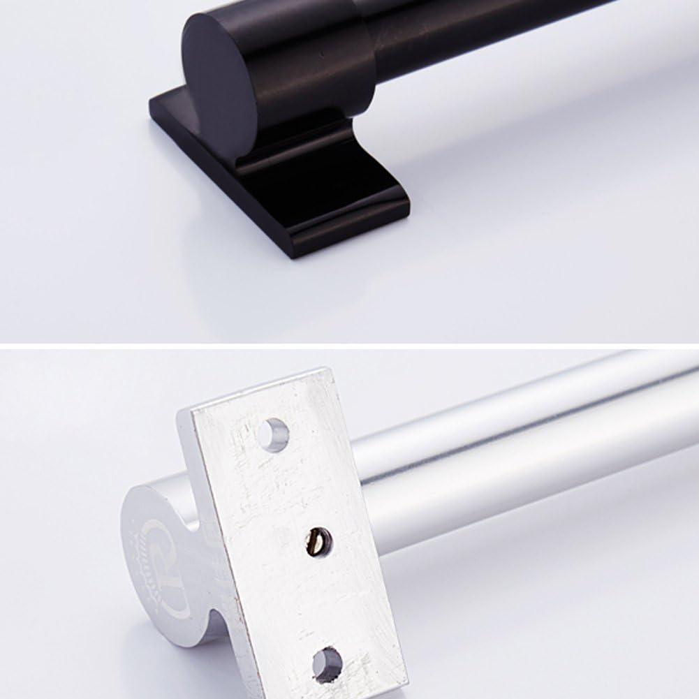 Black, 6 Hooks Dytiying Space Aluminium Hanging Pot Pan Rack Wall Mount Kitchen Utensil Organizer Storage