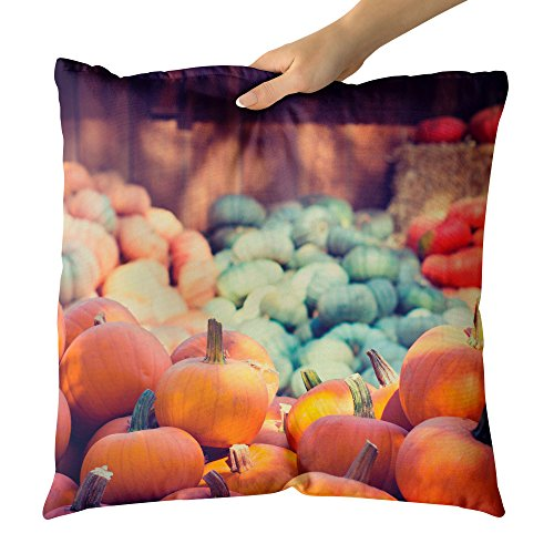 Westlake Art - Pumpkin Halloween - Decorative Throw Pillow Cushion - Picture Photography Artwork Home Decor Living Room - 20x20 Inch for $<!--$32.95-->