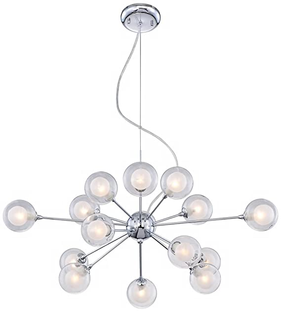 Possini Euro Spheres 30 Wide 15 Light Sputnik Glass Pendant