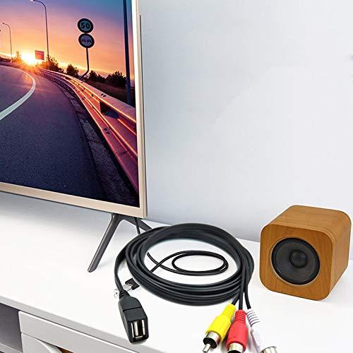 CreameBrulee Adaptateur cam/éscope A//V vid/éo Duttek 5 Pieds 1,5 m USB 2.0 Femelle vers 3 m/âles RCA