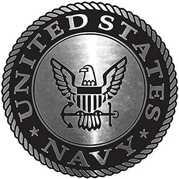 NAVY UNITED STATES AUTO EMBLEM CHROME PLASTIC CAR TRUCK ACCESSORIES MILITARY US