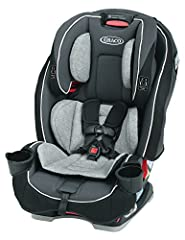 The Graco SlimFit All-in-One convertible car seat saves space in your backseat, while giving your child plenty of room to grow. The unique, rotating cup holders simply rotate away, making the seat 10% slimmer to save precious back seat space....