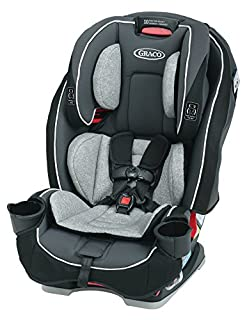 The Graco SlimFit All-in-One convertible car seat saves space in your backseat, while giving your child plenty of room to grow. The unique, rotating cup holders simply rotate away, making the seat 10% slimmer to save precious back seat space. It's a ...