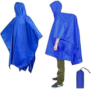 RAIN COAT CAPE WATERPROOF FESITVAL HIKING CAMPING HOOD PONCHO DURABLE REUSABLE