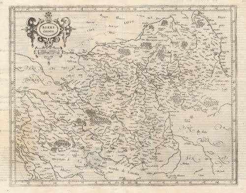 Map Of France 1600.Amazon Com Antique Map France Berry Mercator 1600 Etchings Prints