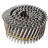 "Crisp-Air 2"" x .092 Ring Shank, Hot Dip Galvanized 15 Degree Coil Nails - Quantity 3600"