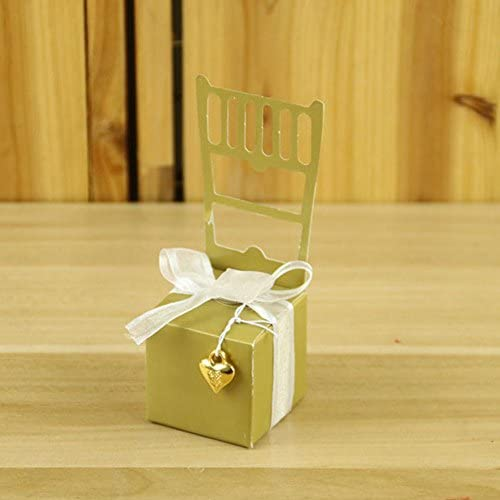 NewMoo 100PCS Chair Shape Place Card Holder Wedding Candy Box Gift Favour Boxes Wedding Bonbonniere Event Party Supplies