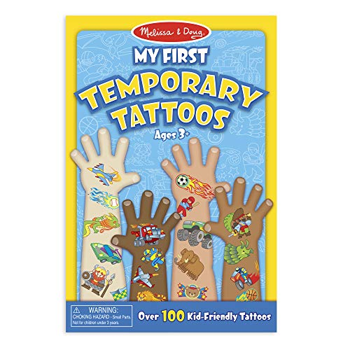 Melissa & Doug My First Temporary Tattoos: Adventure, Creatures, Sports, and More - 100+ Kid-Friendly -