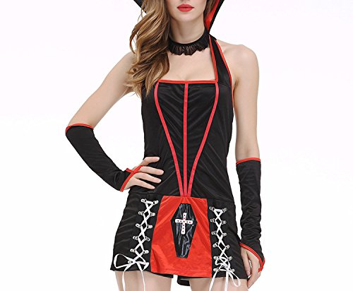 Hyunong Sexy Lingerie Role-Playing Costume Halloween Vampire Skirt Suit Show ()