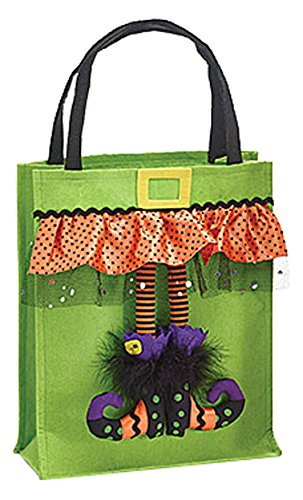 Halloween Trick or Treat Bag - Witch Halloween Tote Bag -