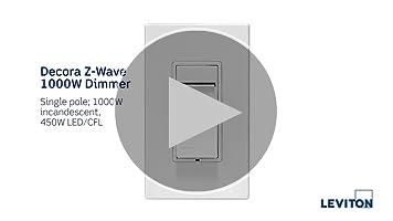 Leviton Dsf01-10Z Decora Rocker Slide 1.5A Quiet Fan Speed Control White